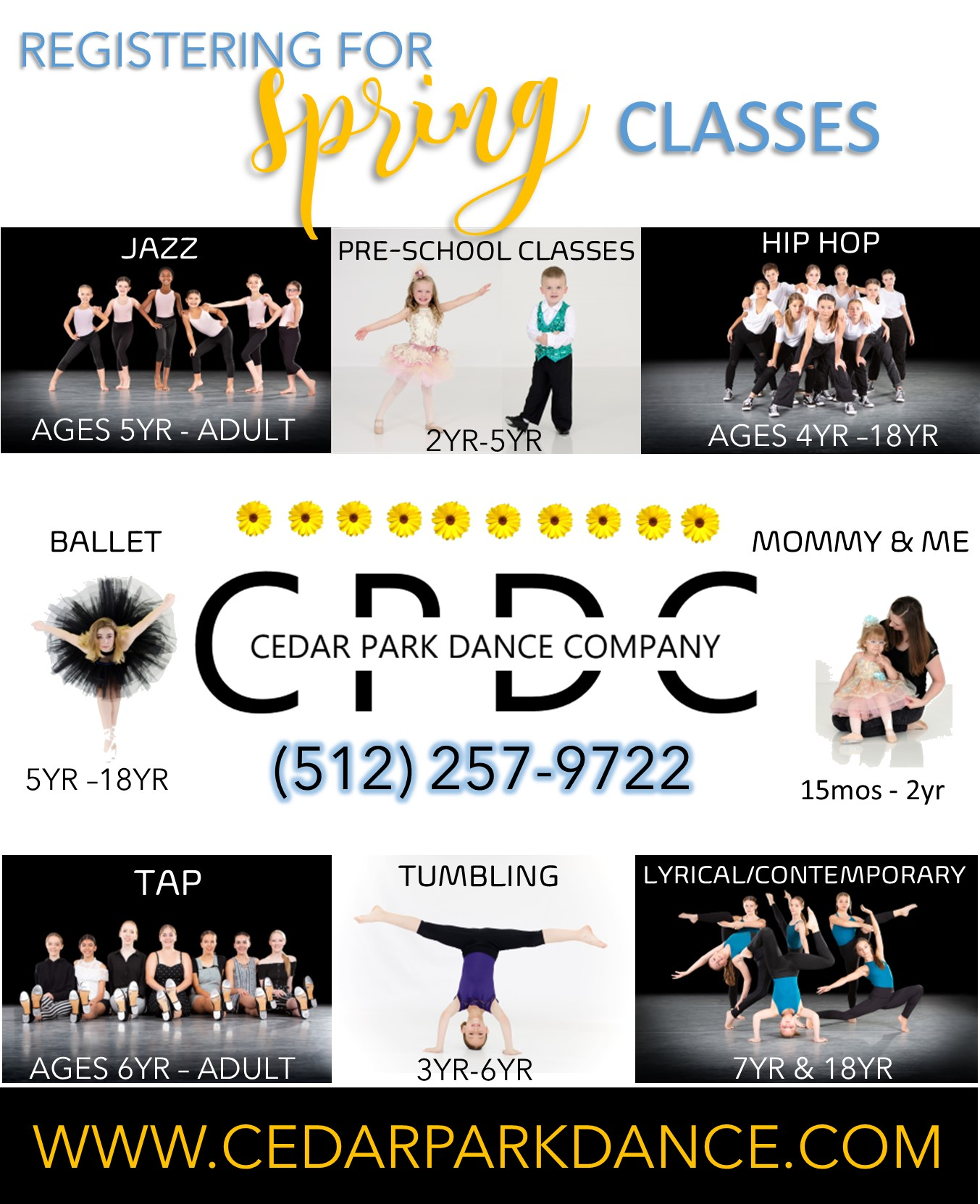 Offering classes in Ballet, Tap, Clogging, Jazz, Contemporary, and Lyrical for all ages!