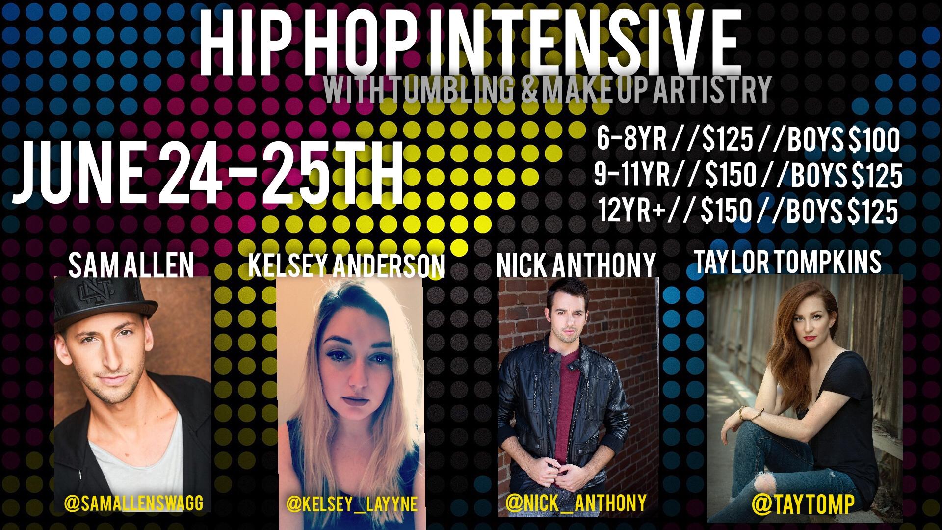 Hip Hop Intensive June 24-25th