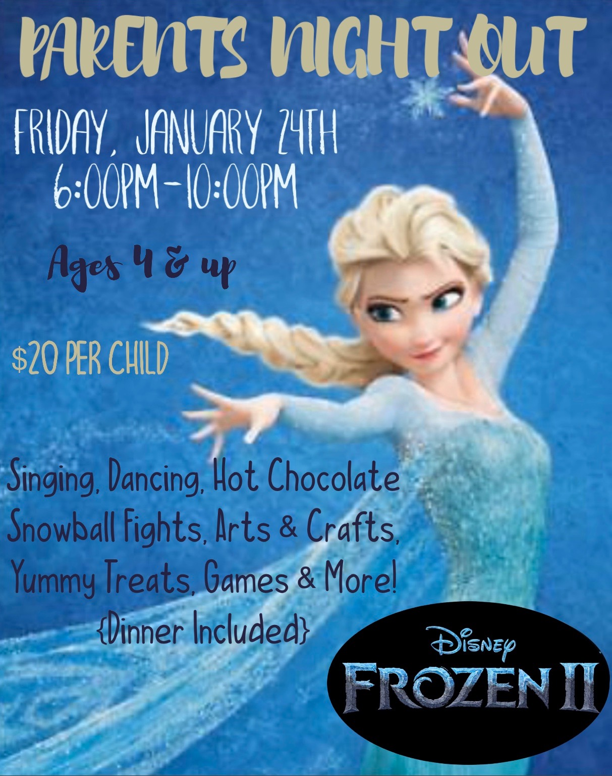 Parents Night Out – Jan 24th