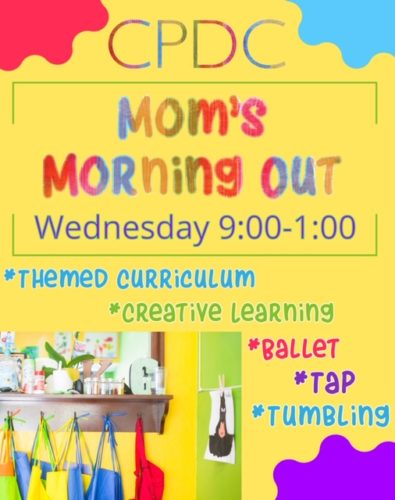 Mom's morning out, Wednesday 9:00-1:00