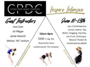 Inspire Intensive, June 10-13th : Schedule Now Posted!