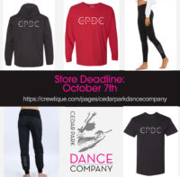 CPDC Apparel Online Store is LIVE! Store Closes Oct. 7th