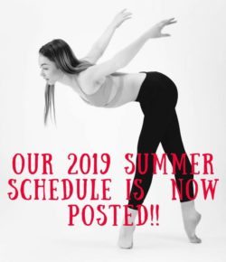 Summer Schedule Now Posted