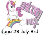 Unicorn Magic Camp: June 29th - July 3rd